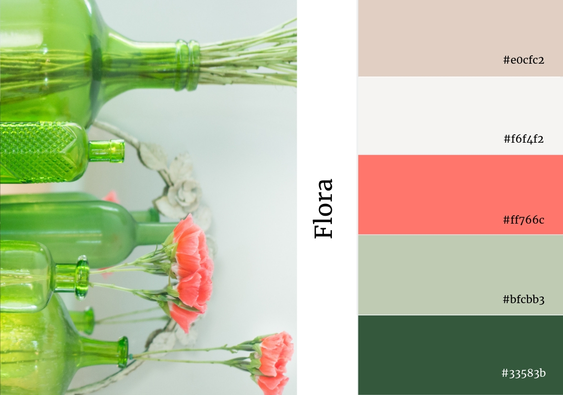 website colour scheme inspiration floral