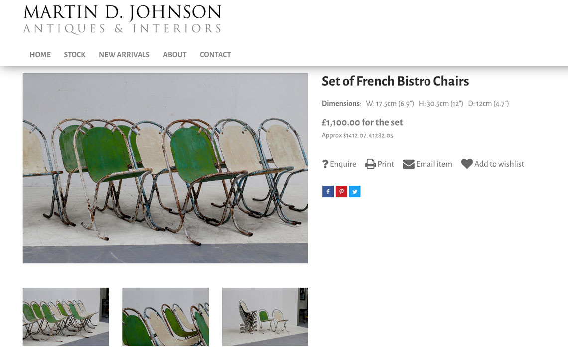 Martin D Johnson french bistro chairs