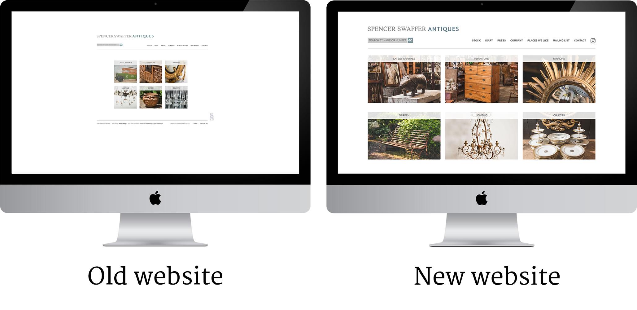 Antiques Web Site Design - Better on bigger screens
