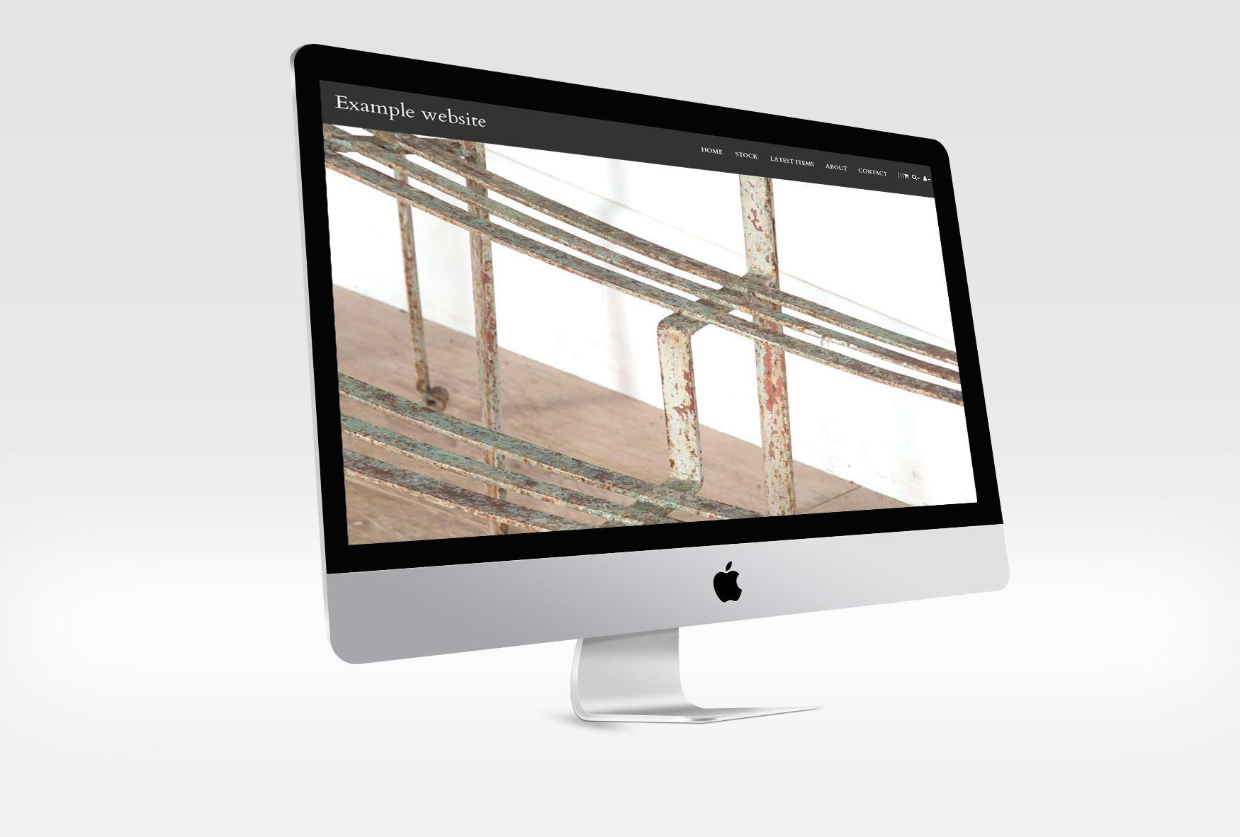 Carsington home page on an iMac