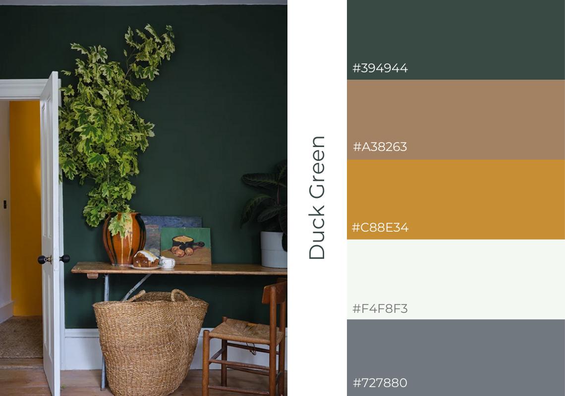 antiques web design website colour scheme farrow and ball Duck green