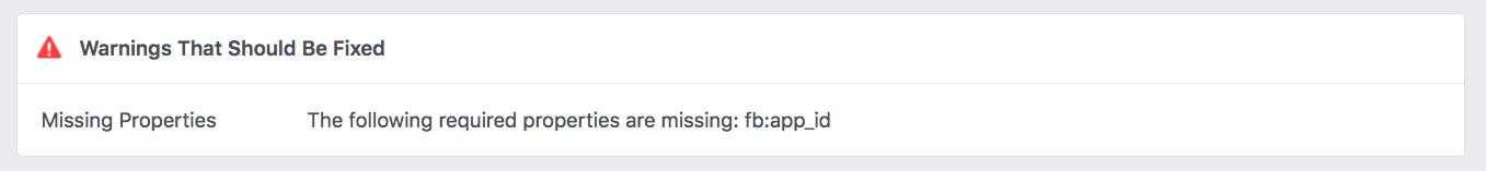 Missing app ID