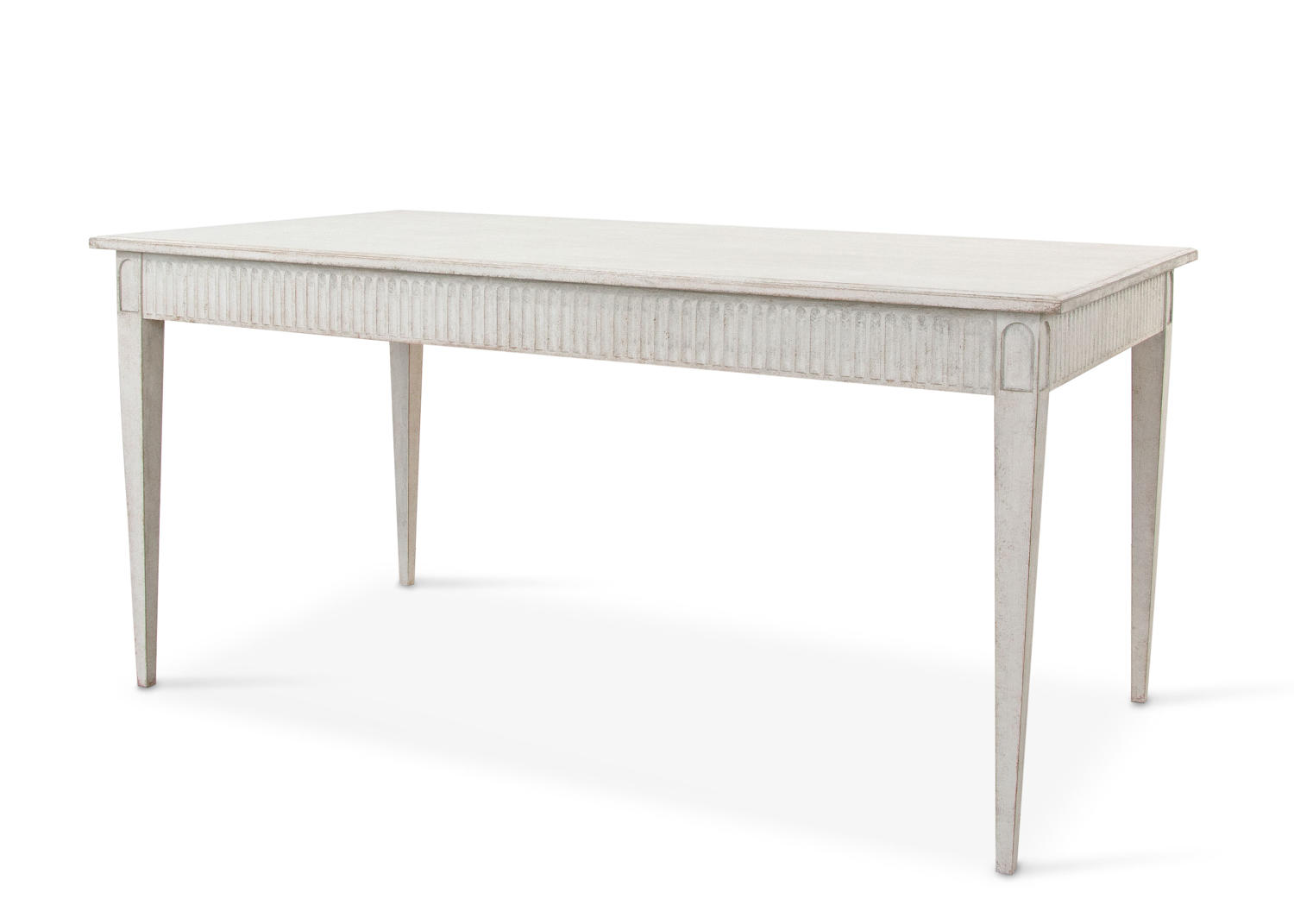Dining table with white background