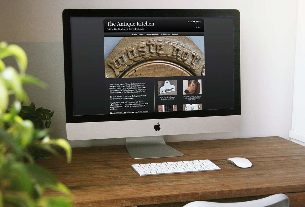 the antique kitchen website preview