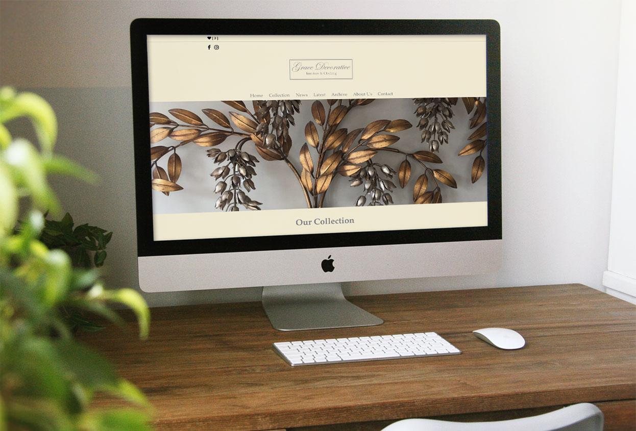 grace decorative Antiques Web Design