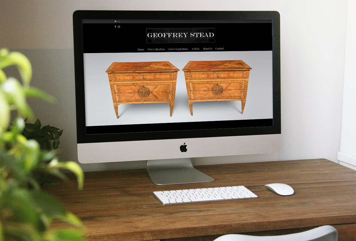 Geoffrey stead antiques web design