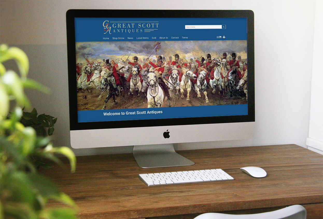 Great Scott Antiques web design