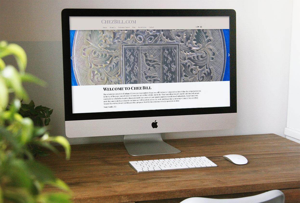 chez bill antiques web design