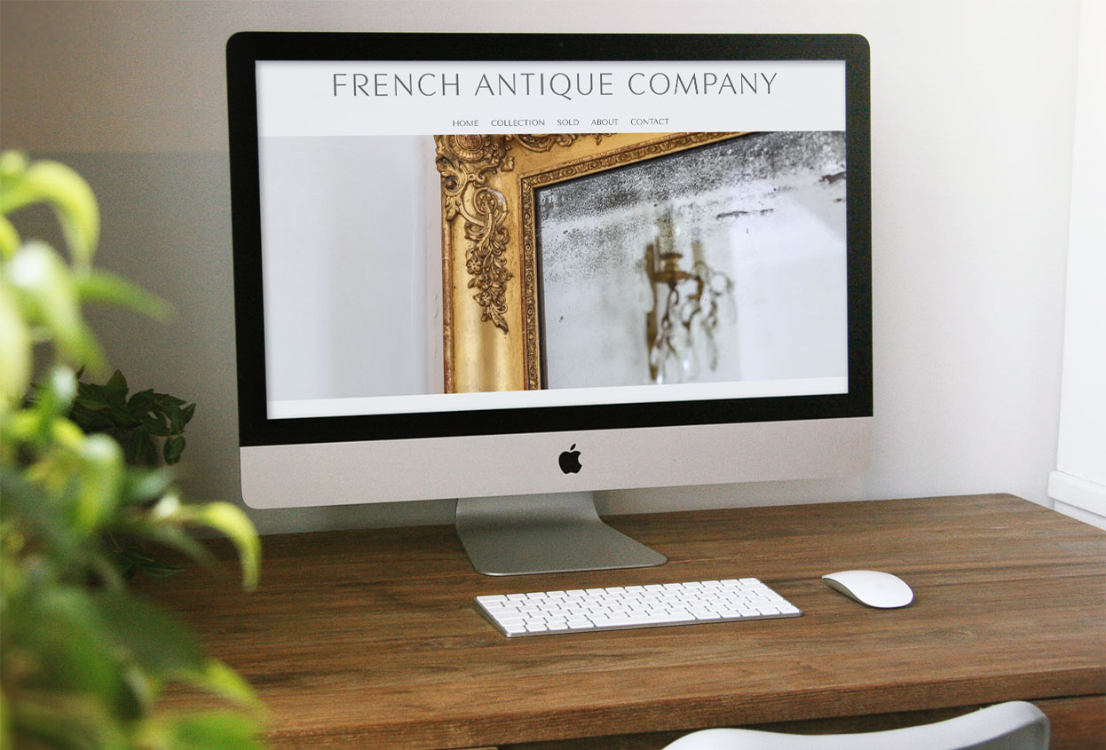 French Antique Company Antiques Web design