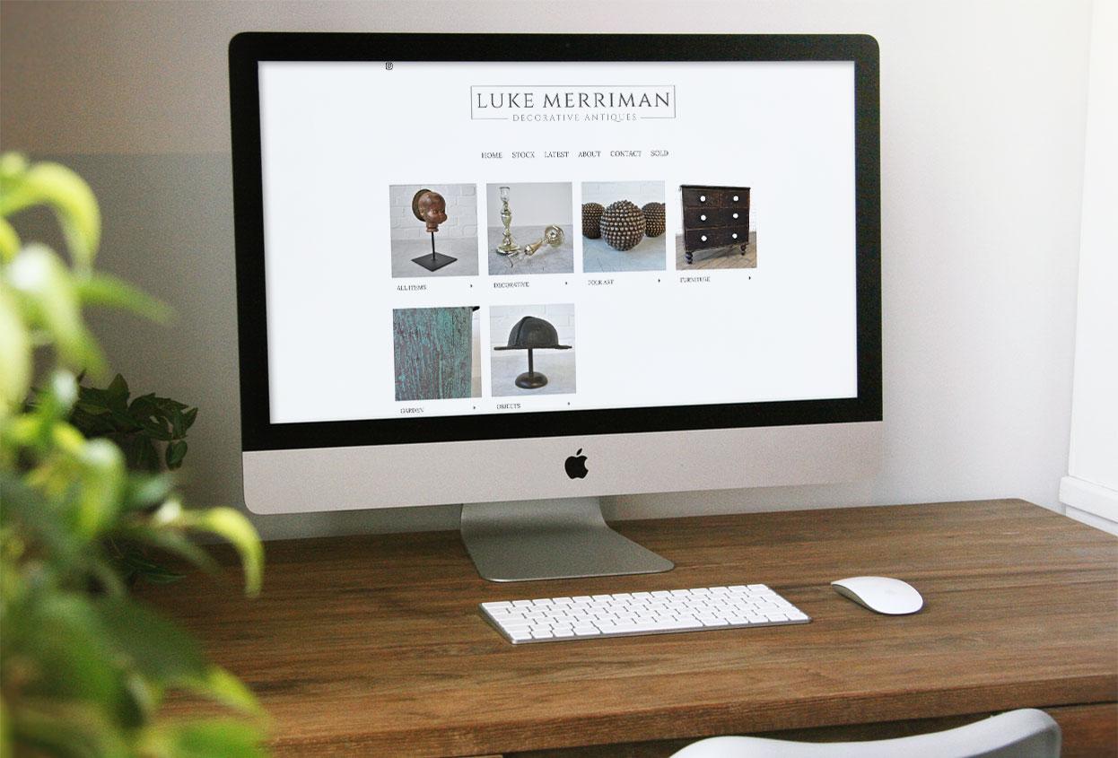 Luke Merriman Antiques Web Design