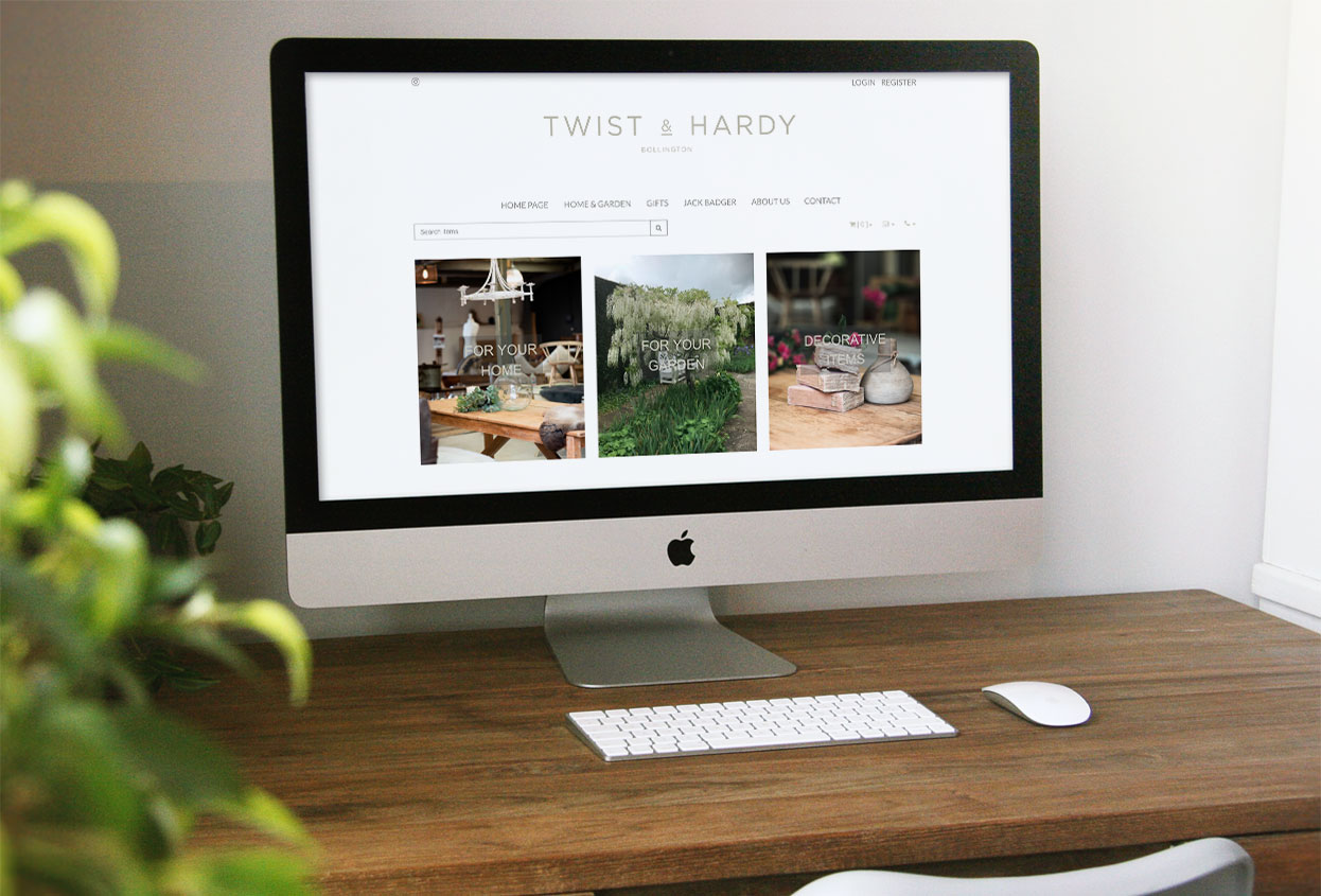 Twist and hardy Antiques web design