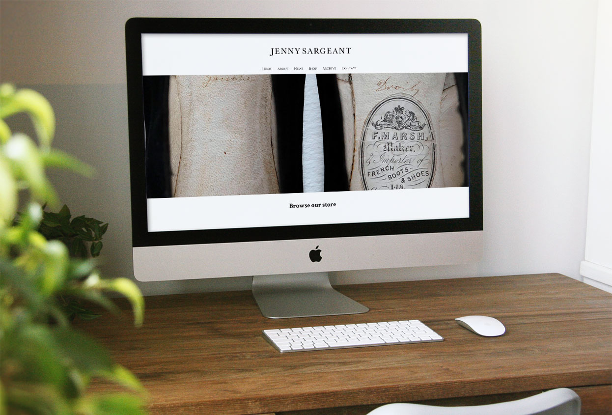jenny sargeant antiques web design