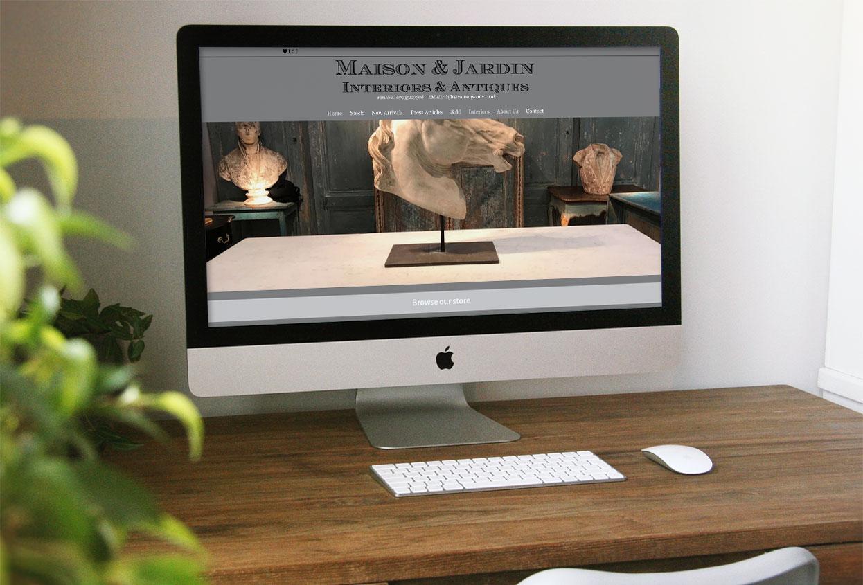 Maison Jardin Antiques Web Design