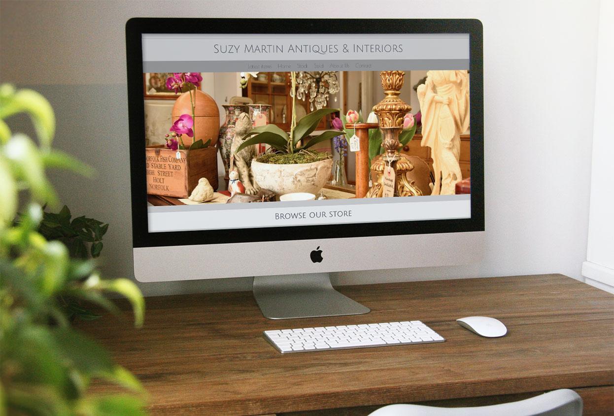 Suzy Martin Antiques antiques web design