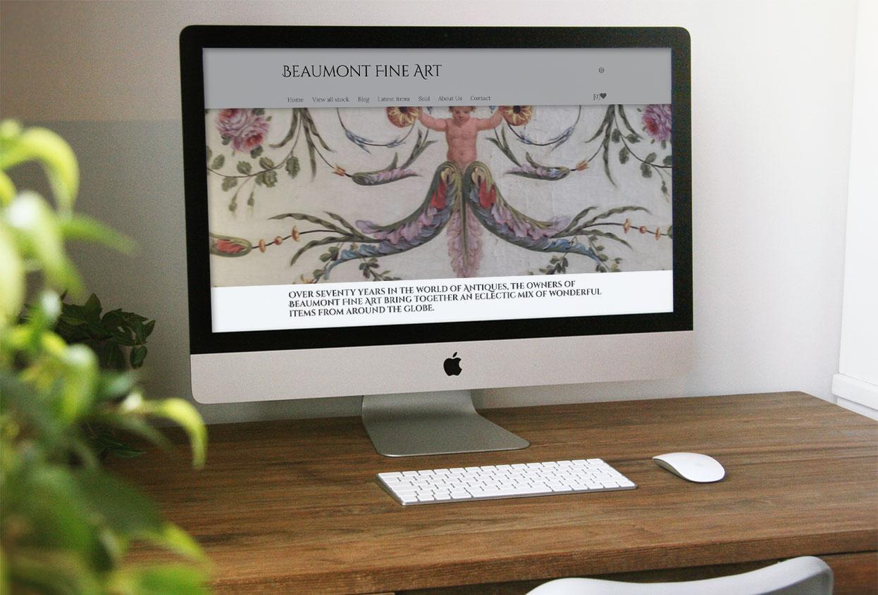 Beaumont Fine Art Antiques Web Design