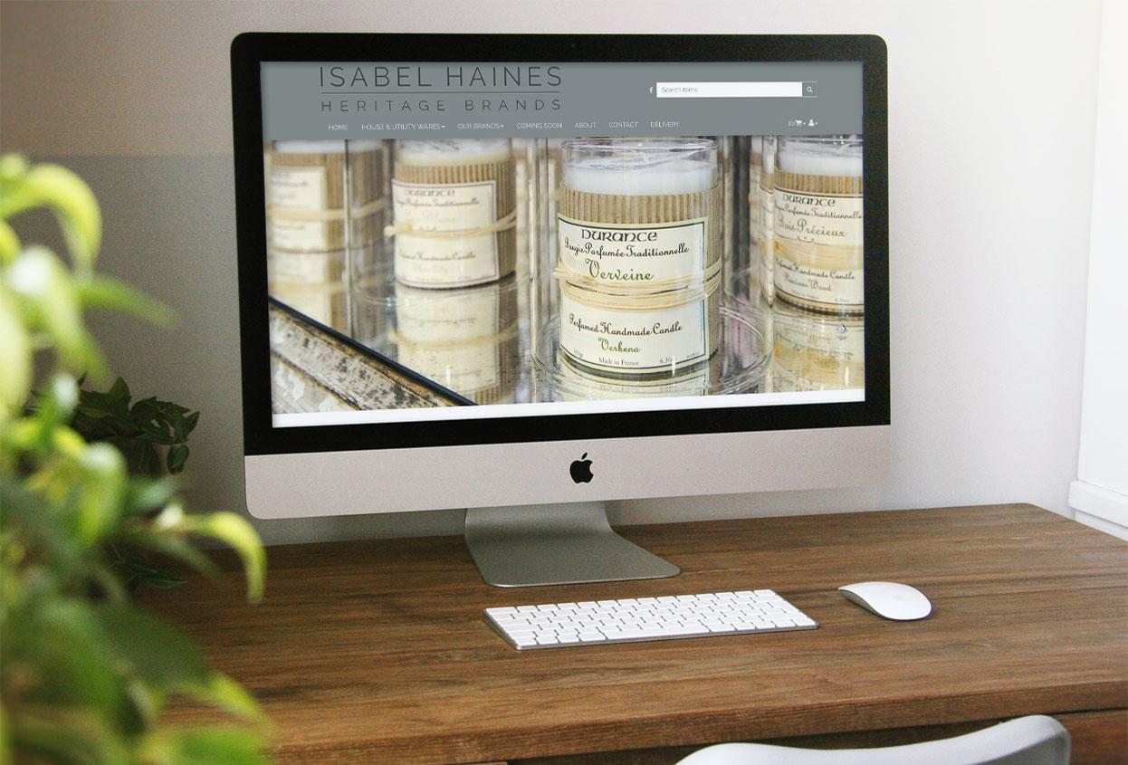 Isabel Haines antiques web design