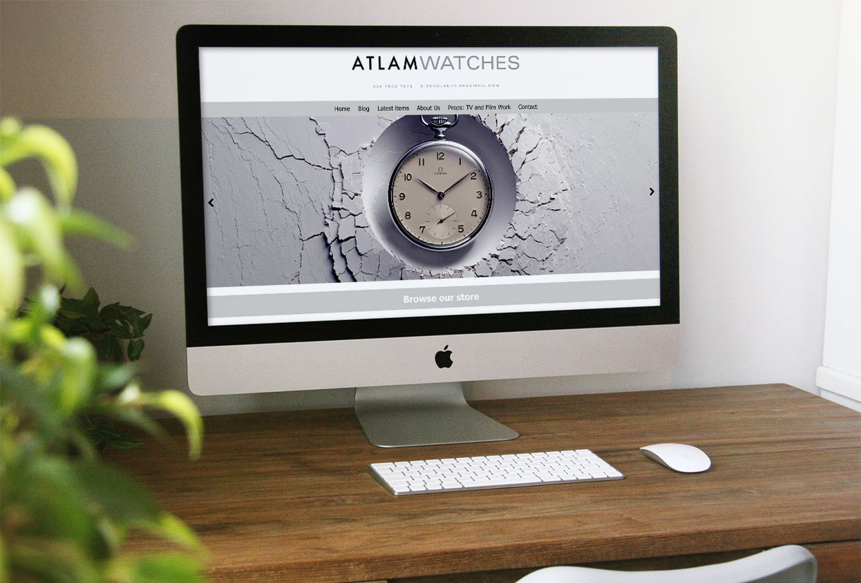 atlam watches antiques web design