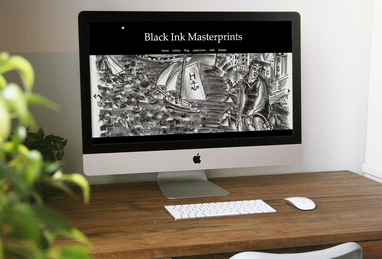 black ink masterprints website preview
