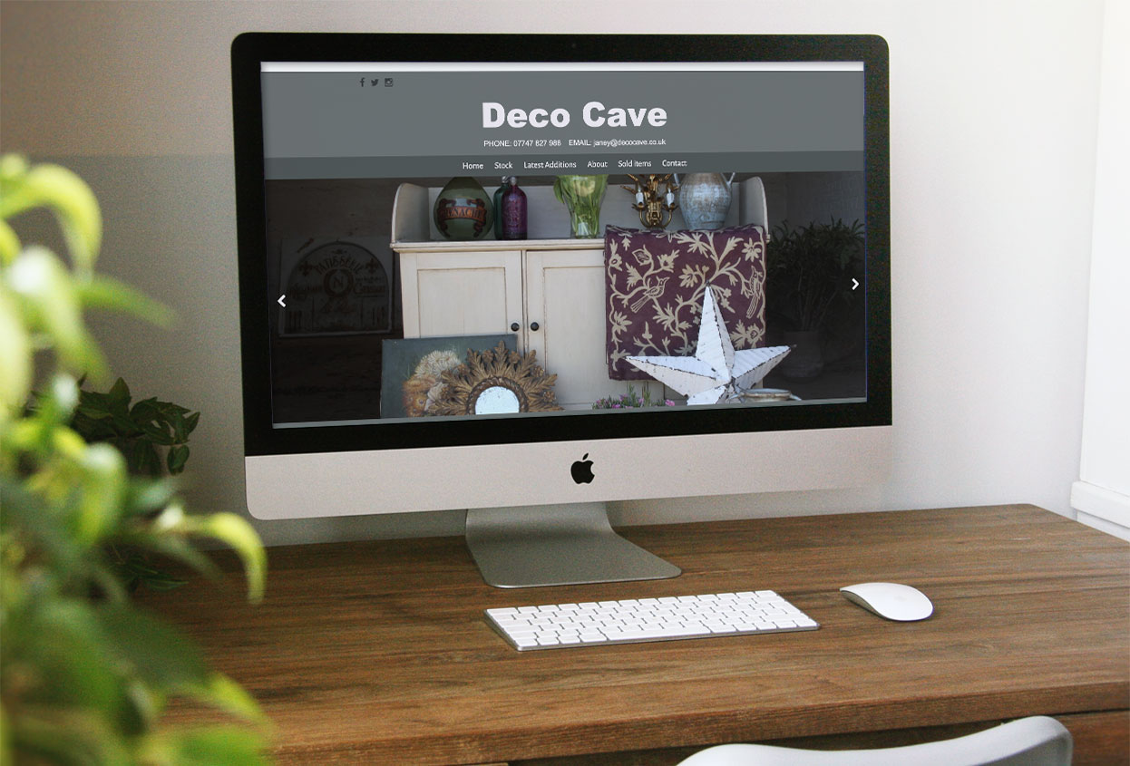 deco cave website preview