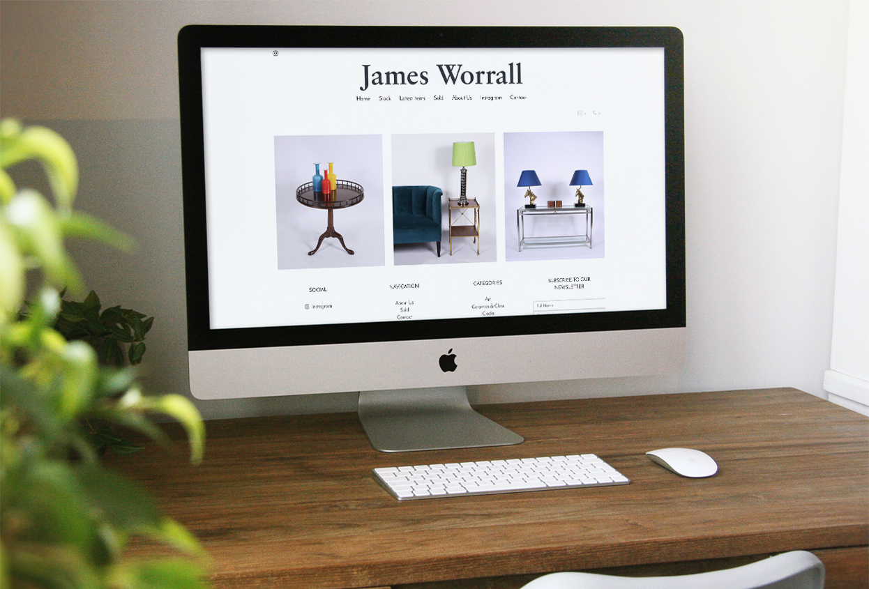 james worrall website preview