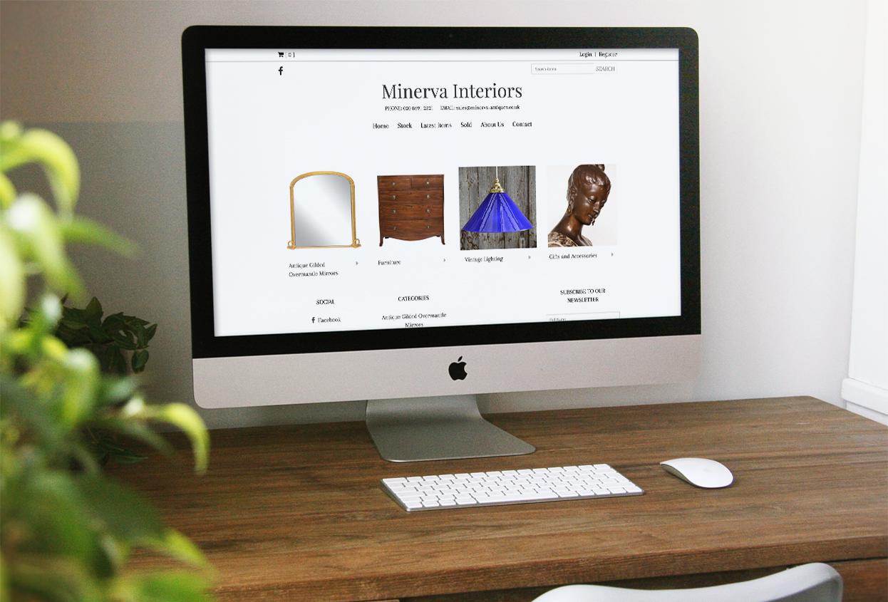 minerva interiors website preview