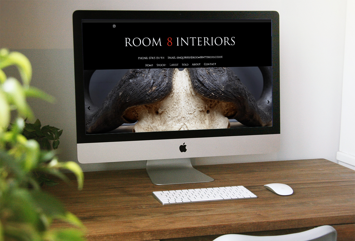 room 8 interiors website preview