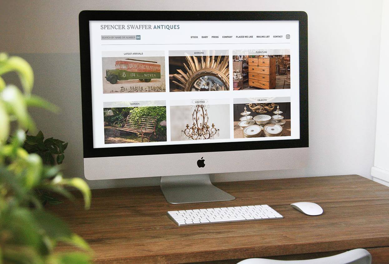 spencer swaffer antiques website preview