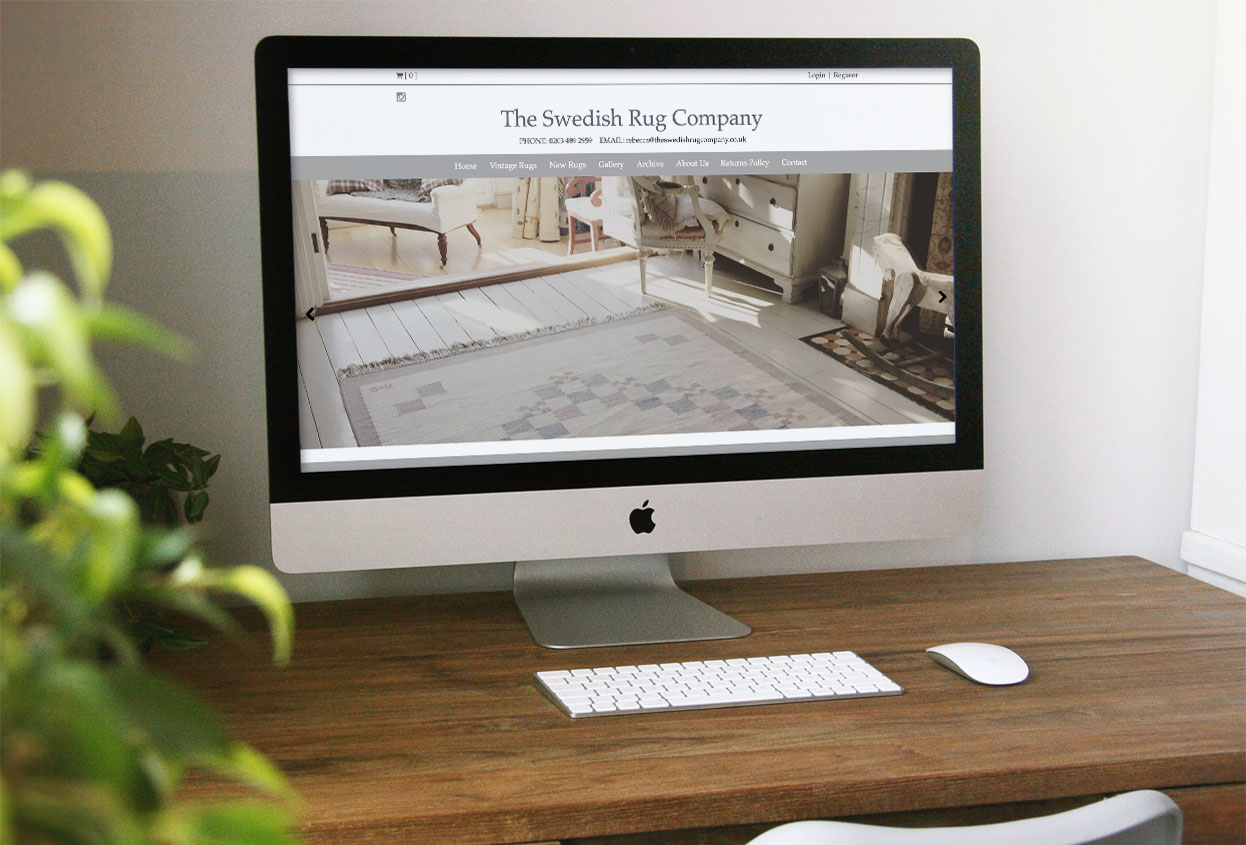 swedish rug company website preview