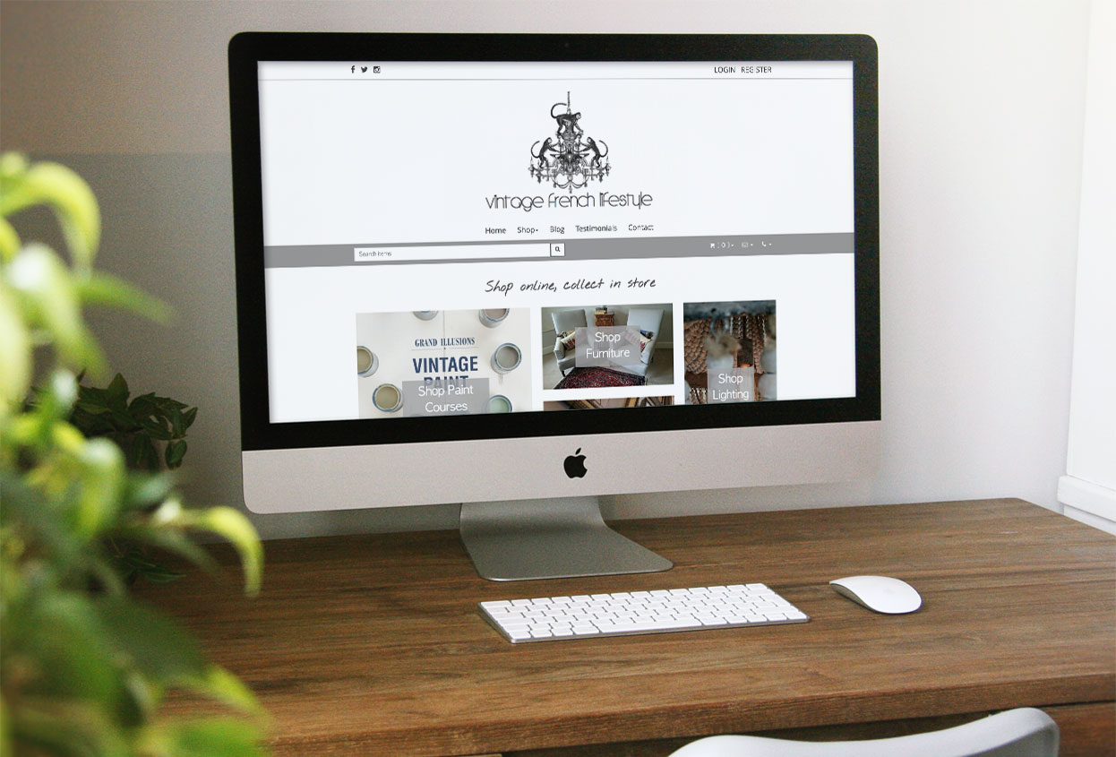 vintage french lifestyle website preview