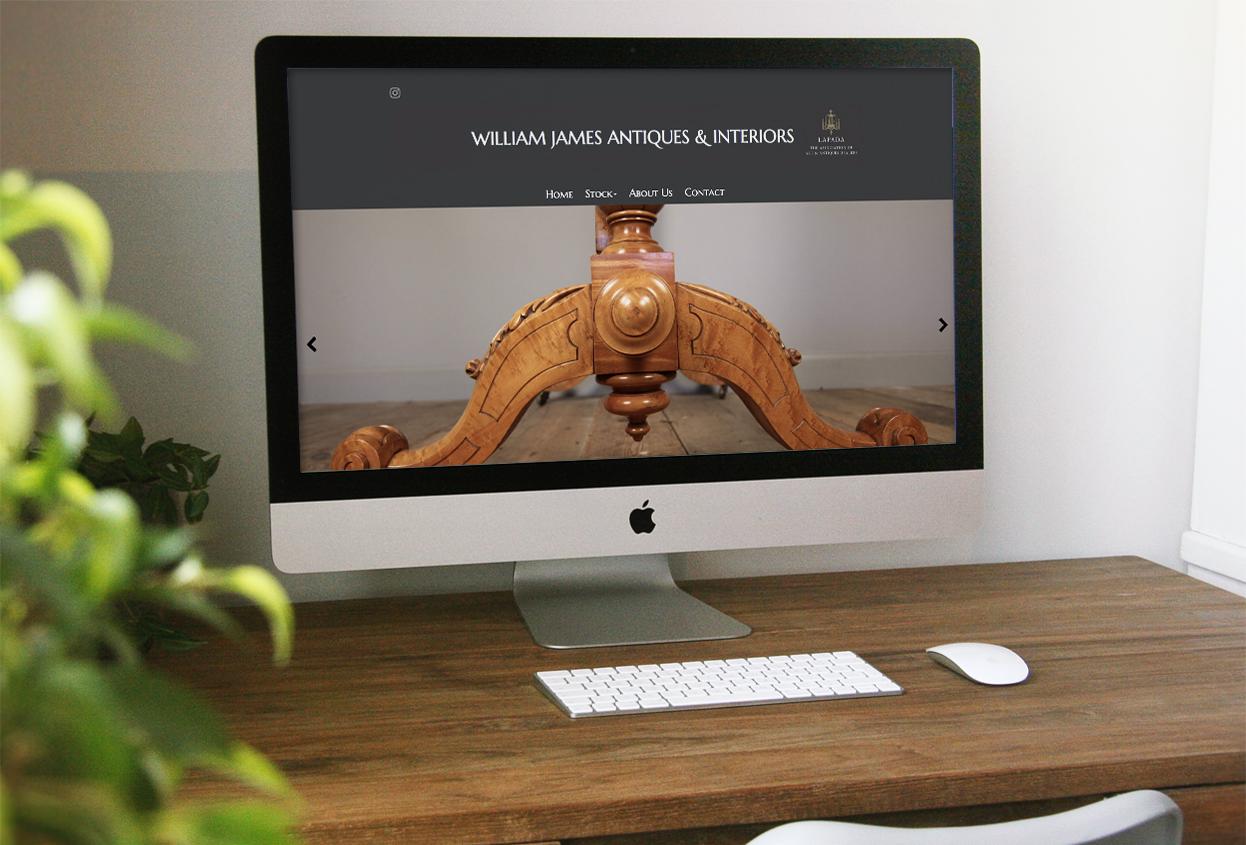 william james antiques website preview